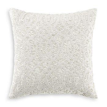 "Hudson Park Collection - Seed Stitch Trellis Decorative Pillow, 18"" x 18"" - 100% Exclusive"