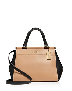 COACH - Grace Color-Block Leather Satchel