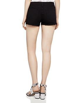 BCBGeneration - Frayed Denim Shorts in Distressed Black