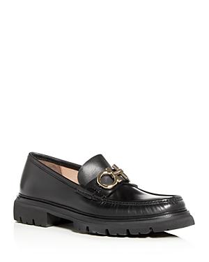 Salvatore Ferragamo Men's Bleecker Leather Moc Toe Loafers - Wide