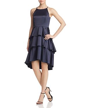 nanette Nanette Lepore Tiered Satin Dress