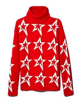 Perfect Moment - Merino Wool Turtleneck Star Sweater