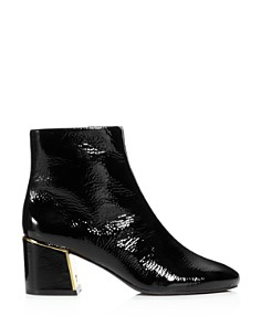 Tory Burch - Women's Juliana Tumbled Patent Leather Booties