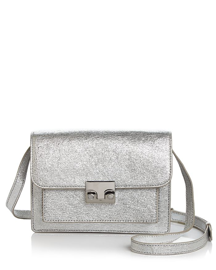 Loeffler Randall - Minimal Rider Small Metallic Leather Satchel