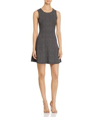 DOT FIT-AND-FLARE DRESS