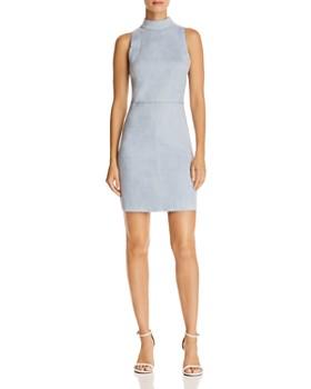 AQUA - Scalloped Faux Suede Sheath Dress - 100% Exclusive