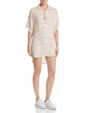 VINTAGE HAVANA STRIPED HIGH/LOW DRESS