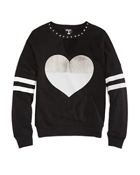 Flowers by Zoe - Girls' Terry Heart Sweatshirt - Big Kid