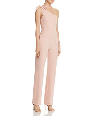 KARINA GRIMALDI DANIEL ONE-SHOULDER STRAIGHT-LEG JUMPSUIT