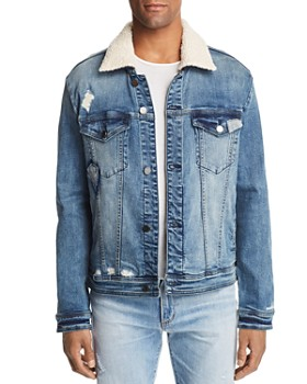 BLANKNYC - Safe Shock Faux Shearling-Trimmed Denim Trucker Jacket - 100% Exclusive