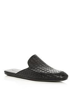 Bottega Veneta - Men's Woven Leather Slippers