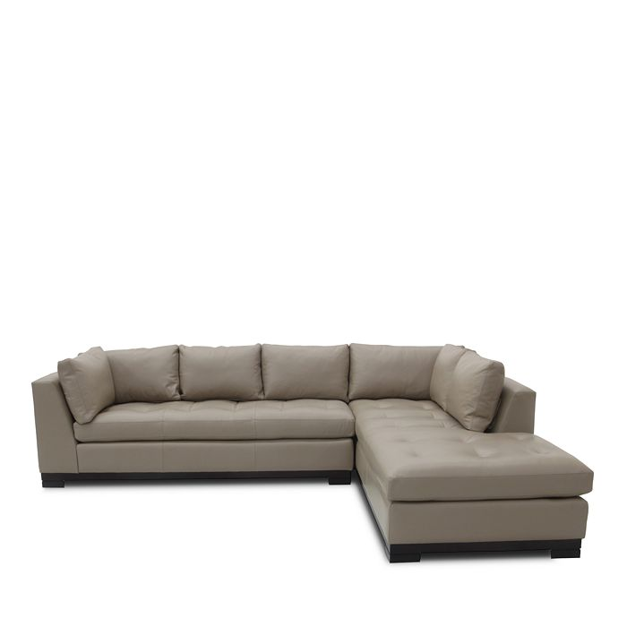 Bloomingdale's Artisan Collection - Carter 2-Piece Leather Sectional - Right Facing Chaise - 100% Exclusive