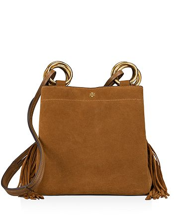 9c33a46d478 Tory Burch - Farrah Small Fringe Suede Tote