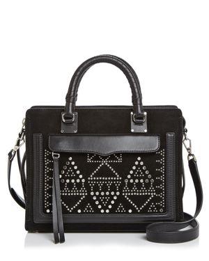 Rebecca Minkoff Bree Medium Top-Zip Leather & Suede Satchel