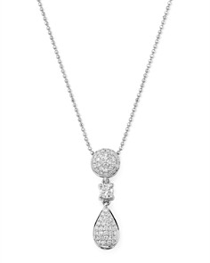Bloomingdale's - Diamond Geometric Drop Pendant Necklace in 14K White Gold, 0.45 ct. t.w. - 100% Exclusive