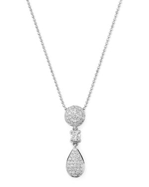 Bloomingdale's Diamond Geometric Drop Pendant Necklace in 14K White Gold, 0.45 ct. t.w. - 100% Exclu