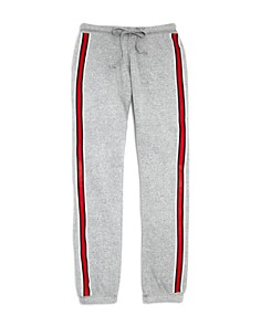 So Nikki... - Girls' Athletic-Stripe Fleece Sweatpants - Big Kid