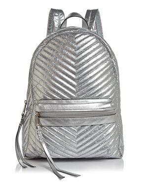 Rebecca Minkoff Pippa Large Metallic Nylon Backpack 3034058