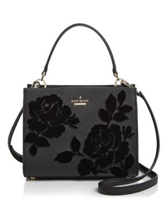 Cameron Street Sarah Velvet Roses Small Leather Crossbody   100% Exclusive by Kate Spade New York