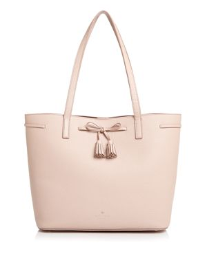Hayes Street - Nandy Leather Tote - Pink in Warm Vellum