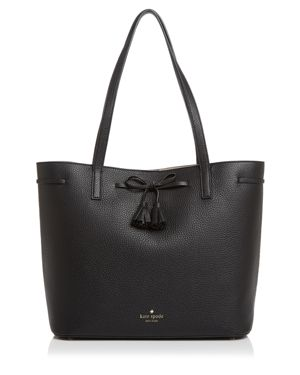 Hayes Street - Nandy Leather Tote - Black, Black/Gold