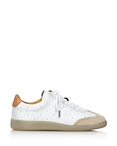 Pairs in Paris - Women's Two-Tone Lace Up Leather Sneaker