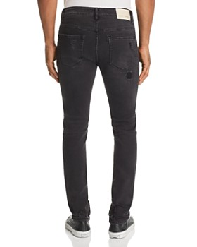 PATRON SAINT OF - Skelter Corded Knee Skinny Fit Jeans in Black Shock Trash
