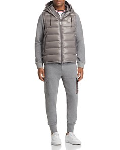 Moncler - Lanoux Laque Hooded Down Vest, Maglia Hooded Zip Cardigan & Quilted Cargo Jogger Pants