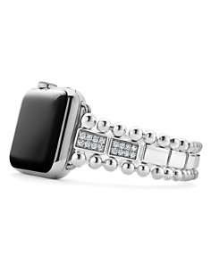 LAGOS - Sterling Silver Smart Caviar Diamond Four-Bar Apple™ Smartwatch Strap - 100% Exclusive