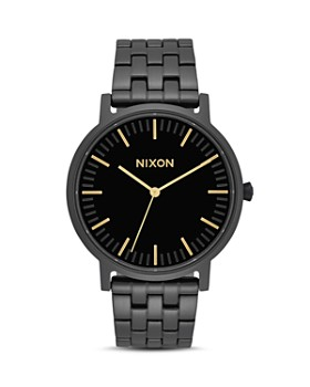 Nixon - Porter Gold-Tone Accented Watch, 40mm