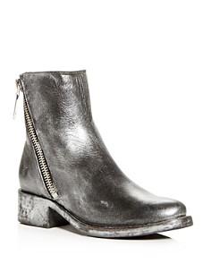 Frye - Women's Demi Distressed Painted Leather Block-Heel Booties