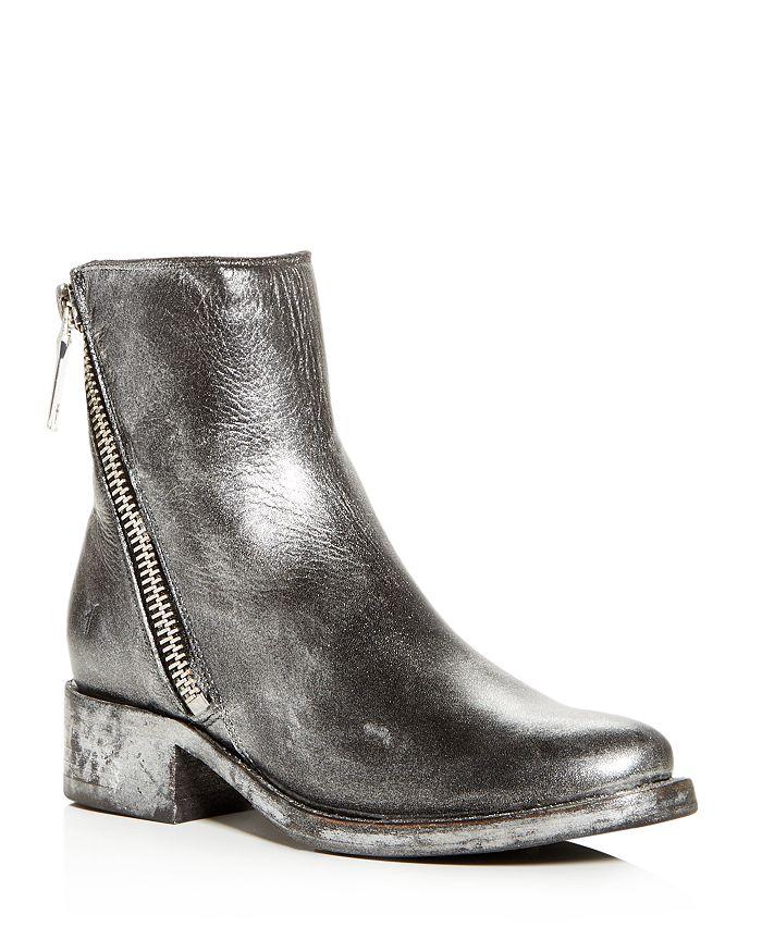 6f006c17581 Frye Women's Demi Distressed Painted Leather Block-Heel Booties ...