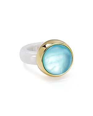 Roberto Demeglio Dama White Ceramic Stretch Ring