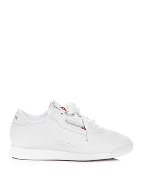 ... Reebok - Women s Princess Faux Leather Lace Up Sneakers d49ae1012877