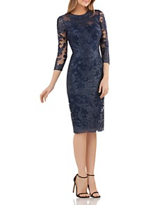 JS Collections - Embroidered Lace Dress