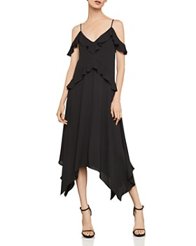 BCBGMAXAZRIA - Lissa Handkerchief-Hem Slip Dress