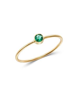 Zoe Chicco 14K Yellow Gold Emerald Bezel-Set Ring