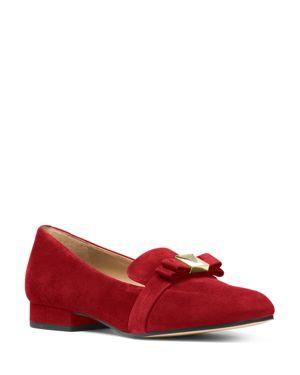 Michael Michael Kors Women's Caroline Suede Apron Toe Loafers