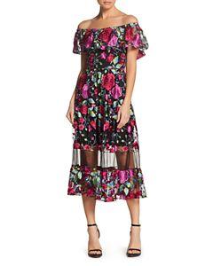 22b207bc10f4 Tory Burch Happy Times Silk Floral-Print Dress