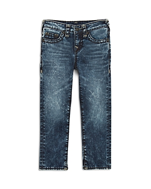 True Religion Boys Geno Super T Stretch StraightLeg AcidWash Jeans  Little Kid Big Kid