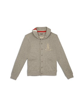 Hudson - Boys' French Terry Sweatshirt Cardigan, Little Kid - 100% Exclusive