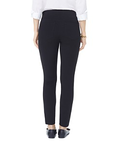 NYDJ - Faux-Leather Trimmed Ponte Leggings - 100% Exclusive