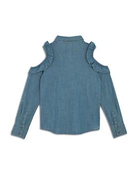 Hudson - Girls' Ruffled Cold-Shoulder Chambray Shirt, Big Kid - 100% Exclusive