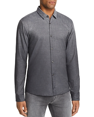Hugo Cottons ERO OMBRE PLAID EXTRA SLIM FIT BUTTON-DOWN SHIRT