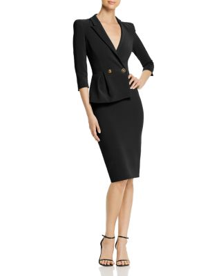 Asymmetric Suit Dress by Elisabetta Franchi