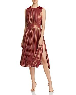 Elisabetta Franchi Metallic Pleated Dress