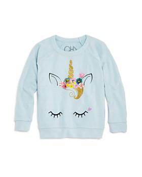 CHASER - Girls' Raglan Unicorn Sweatshirt - Little Kid, Big Kid