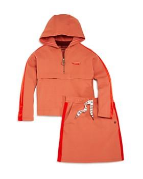 Scotch R'Belle - Girls' Velvet-Striped Hoodie & Skirt - Little Kid, Big Kid