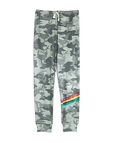 Flowers by Zoe - Girls' Camo-Print Rainbow Stripe Sweatpants - Big Kid