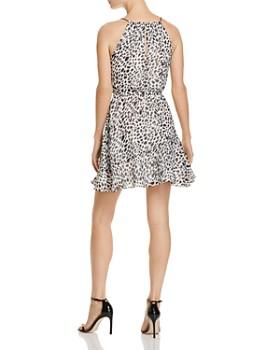 AQUA - Cheetah Print Fit-and-Flare Dress - 100% Exclusive
